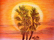 Cloud Drawings Originals - Tropical Sun by Shelley Blair