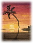 Tropical Sunset Prints - Tropical Sunset Print by Heidi Smith