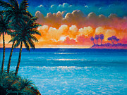Tropical Paintings - Tropical Sunset by Keith Stillwagon