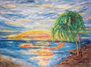 Sunsets And Sunrises  - Tropical Sunset by Mary Sedici