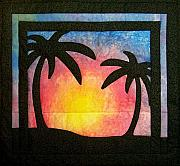 Featured Tapestries - Textiles Originals - Tropical Sunset by Pam Geisel