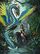 Fantasy Dragon Posters - Tropical Temptress Poster by Stanley Morrison