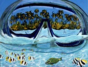 Scuba Paintings - Tropical View by Jennifer Belote