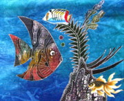 Tropical Fish Tapestries - Textiles Posters - Tropical Waters I Poster by Judy Sauer