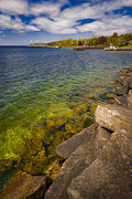 Tropical Waters Of Door County Wisconsin Print by Shutter Happens Photography