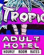 Motel Digital Art Prints - Tropicana Adult Hotel Print by Wingsdomain Art and Photography