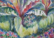 Deb Ronglien Watercolor Prints - Tropicana Print by Deborah Ronglien
