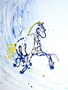 Simplistic Originals - Trot in Blue by Emily McIntosh