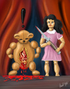 Toys Prints - Trouble in Toyland Print by David Kyte