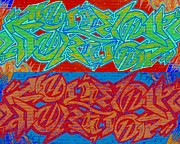 Tagging Digital Art - Trouble Tapestry 2 by Randall Weidner