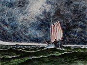 Storm Clouds Paintings - Troubled Waters by Barry Close