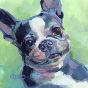 Boston Terrier Art Paintings - Troublemaker Frankie by Kimberly Santini