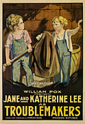 1910s Poster Art Framed Prints - Troublemakers, Jane Lee, Katherine Lee Framed Print by Everett