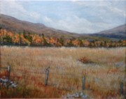 Meadowlark Paintings - Trough Road 1 by Ellen  Leigh