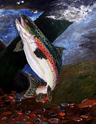 Spotted Trout Prints - Trout Bedding Print by Angela Pari  Dominic Chumroo