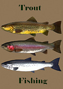 Trout Digital Art - Trout Fishing Poster by Mark Fluharty