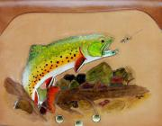 Trout Tapestries - Textiles - Trout Fly Case by Wayne Houston