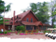 Trout Digital Art - Trout Lake Golf Club by Geoff Strehlow