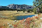 Red Mountains Prints - Trout Lake Print by Larry Ricker