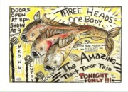 Neo Expressionism Art - Trout Tenors by Robert Wolverton Jr