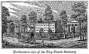 Seminary Framed Prints - Troy Female Seminary, 1841 Framed Print by Granger