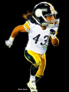 Pittsburgh Digital Art Framed Prints - Troy Polamalu Framed Print by Stephen Younts