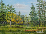 Swimming Hole Paintings - Troy Spring by Larry Whitler