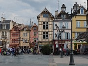 Burgundy Photos - Troyes France by Marilyn Dunlap