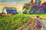 Country Road Mixed Media Prints - Troys Memories Print by Kathy Braud