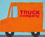 Kids Room Mixed Media Posters - Truck Co Poster by Laurie Breen