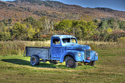 Vermont Photographs Framed Prints - Truck in a Field Framed Print by Dennis Clark