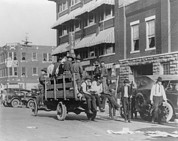 Race Discrimination Prints - Truck On Street Near Tulsa, Oklahomas Print by Everett