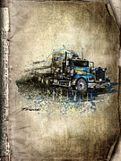 Transportation Mixed Media Metal Prints - Truck Metal Print by Svetlana Sewell