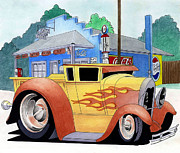 Station Mixed Media - Truck Toon by Lyle Brown