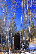 Iphoneonly Art - Truckee Outhouse by Mickey Hatt