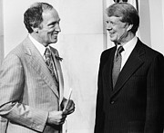 Democratic Party Photos - Trudeau & Carter, 1977 by Granger