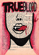 Tv Show Drawings Framed Prints - True Blood Lick Framed Print by Jera Sky