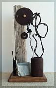 Assemblage Sculpture Originals - True Bond by Snake Jagger
