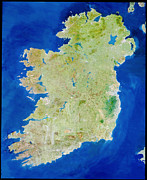 Neagh Prints - True-colour Satellite Image Of Ireland Print by Planetobserver