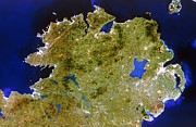 Neagh Prints - True-colour Satellite Image Of Ulster, Ireland Print by Planetobserver