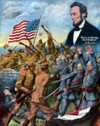 Abraham Lincoln Digital Art - True Sons Of Freedom by War Is Hell Store