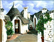 Brick Paintings - Trulli by Sarah Farren