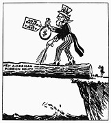 Satire Posters - Truman Doctrine Cartoon Poster by Granger