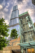 Trump Tower Prints - Trump Tower Chicago Print by Scott Norris
