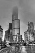 High Tower Framed Prints - Trump Tower Fog  Framed Print by Drew Castelhano