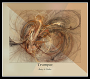 Abstract Music Digital Art - Trumpet by Betsy A Cutler East Coast Barrier Islands
