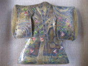 One Of A Kind Reliefs - Trumpet Kimono by Brenda Berdnik