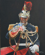Police Paintings - Trumpet Major by David McEwen