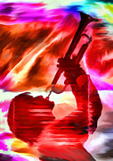 Trumpet Digital Art Metal Prints - Trumpet Player Metal Print by David Ridley