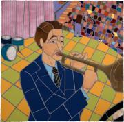 Trumpet Player Print by Jonathan Mandell